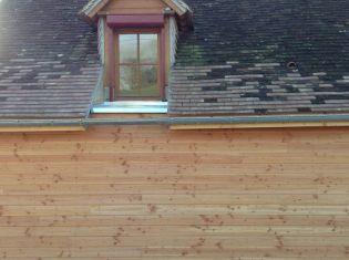 isolation façade nord, finition bardage.